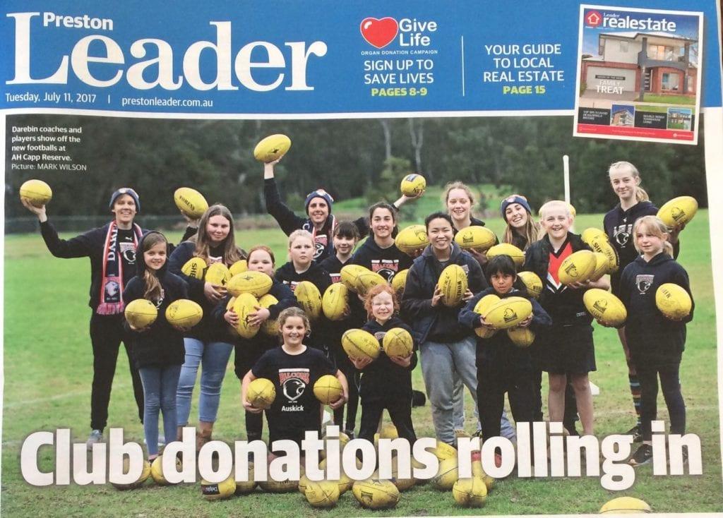 Preston Leader front page